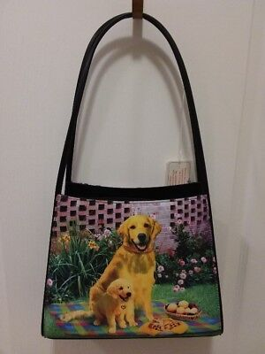 Lab~Golden Retriever Microfiber Shoulder Style Handbag