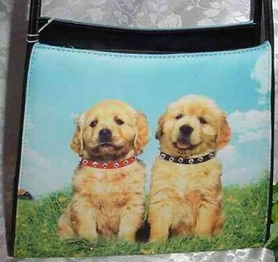 Golden Retriever Microfiber Shoulder Style Handbag