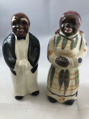 Black Americana Salt and Pepper Shakers – Butler and Mammy – Vintage