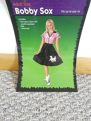 Adult Size Bobby Sox Poodle Skirt Halloween Costume Fits Up to Size 14