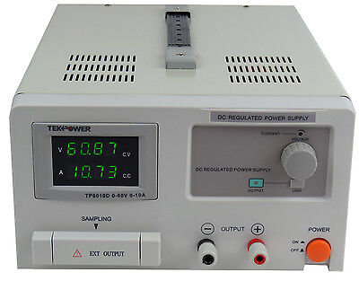 TekPower TP6010D DC Adjustable Linear Power Supply 60V 10A with Digital Display