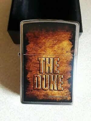 JOHN WAYNE THE DUKE ZIPPO LIGHTER Brushed chrome 2012
