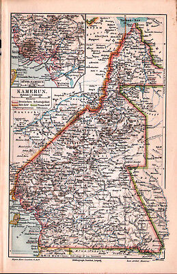 Antique map. AFRICA. CAMEROON. 1906