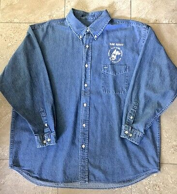 XL Men's denim shirt w/ Harrah's Pony Express Logo