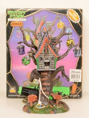 Halloween Spooky Town Lighted Hungry Tree House Figure by Lemax NEEDS WORK