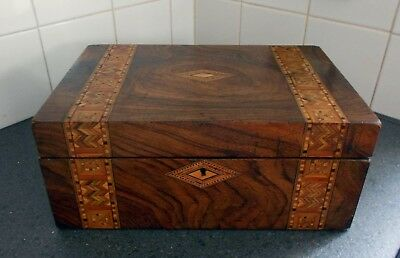 Vintage Walnut & Marquetry Inlay Writing Slope for restoration