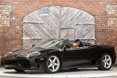 Ferrari 360 6-Speed Spider 02 Nero Scuderia Shields Power Seats Black Carpets with Leather Trim