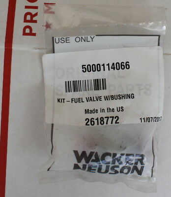Wacker 5000114066 Fuel Valve W/ Bushing Bs-50, 60, Etc.