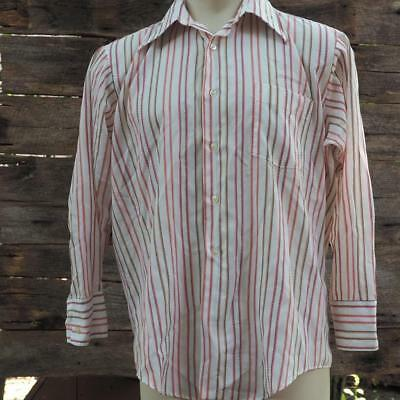 Vintage Manhattan Long Sleeve Men's Shirt Size 16.5