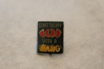 "Vintage ""Start The Day With A Bang"" Sexual Innuendo Enamel Lapel Hat Pin"