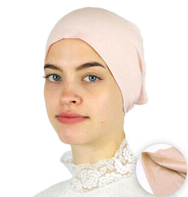 Muslim Women's Islamic Turkish Cap Modefa Non-Slip Cotton Bonnet - Blush Pink