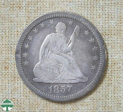 1857 Seated Liberty Quarter - Fine Details