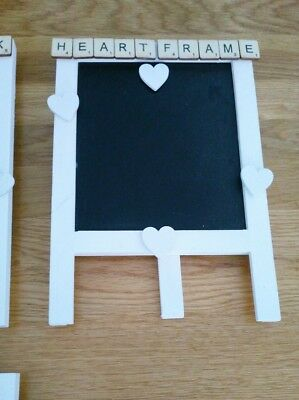 Vintage wedding quirky small chalk black board easel 'Heart Frame' bespoke