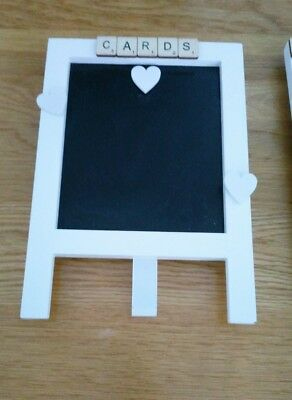 Vintage wedding quirky small chalk black board easel 'Cards' bespoke
