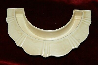 Vintage George Clews & Co Art Deco Semi Circular Beige Posy Holder