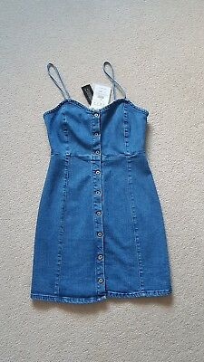 236d5c1583 PULL AND BEAR Denim Strappy Mini Dress, Brand New Size S - £34.00 ...
