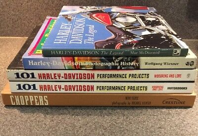 Lot of 6 Harley Davidson books! The Legend, 101 Performance Projects, Photo Hist