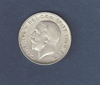 UK ( Great Britain ) 1915 one shilling  Silver