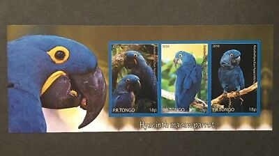 Vögel Papagei Parrots Birds Oiseaux Tiere Animals KB Sheet MNH postfrisch IMPERF
