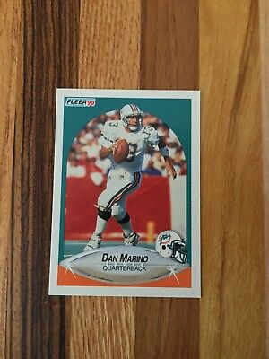 1990 Fleer Dan Marino Miami Dolphins #244 Football Card Awesome Condition