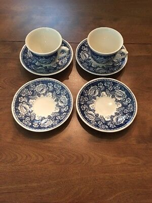 MASONS Crabtree and Evelyn Ironstone 2 Large Cups 4 Large Saucers