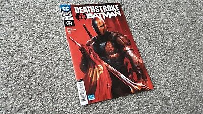 DEATHSTROKE Vol.4 #30 MATTINA VARIANT (2018) DC UNIVERSE -  vs. BATMAN
