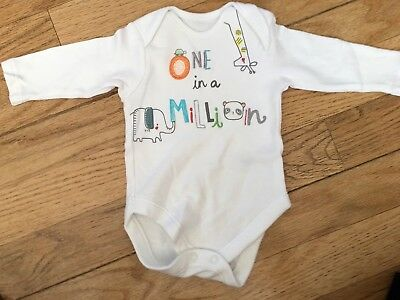 Pretty Netural Unisex One In A Million Vests 0-3 Months