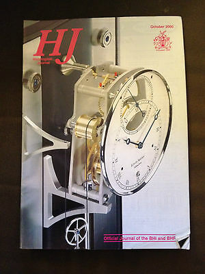 Oct 2000 Horological Journal Magazine - Making Wooden Clocks