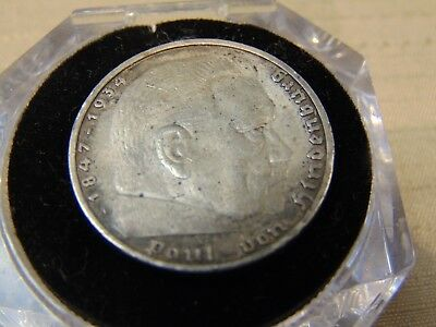 1937  A  5 Marks Ww2  German   Silver Coin            Ready To Ship