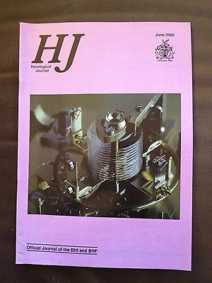 June 2000 Horological Journal Magazine - Glass Balance Springs