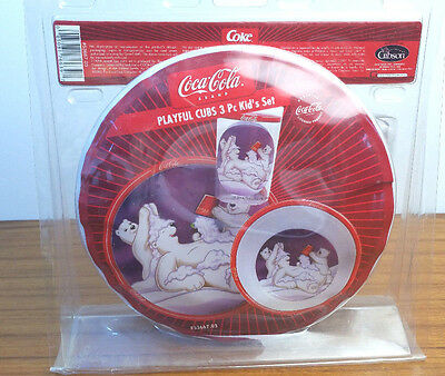 Coke Gibson Playful Cubs Coca-Cola 2004 Official Licensed 3 Piece Kid's Set New