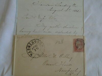 CIVIL WAR LETTER  FROM a 4th CORPS  UNION ARMY CAPTAIN AUGUST 15th 1862.