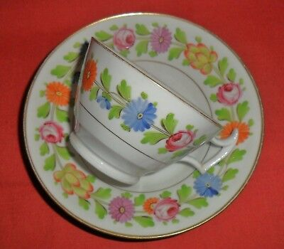 Delightful C1815 China Cup And Saucer - Hand Painted - Possibly Mayer & Newbold?