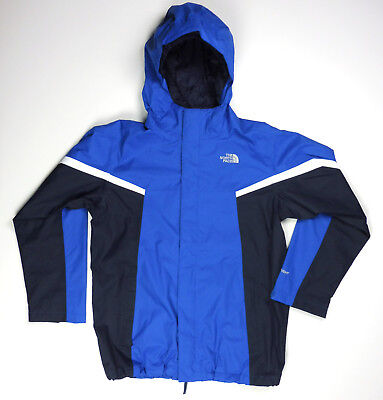 The North Face Hooded Winter Ski Jacket Youth Boys Size 14-16 Large Blue HyVent