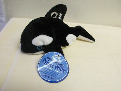 "Princess Cruise Ship Prince Willy 9"" Orca Whale Beany Stuffed Animal TAG BENT"