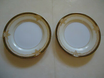 Set of 2 Vtg. Nortake Valiere Bread and Butter #4981 Japan