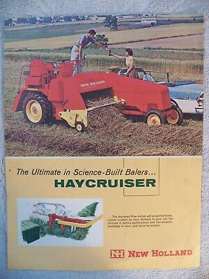 Vintage 1967 New Holland HAYCRUISER Sales Brochure