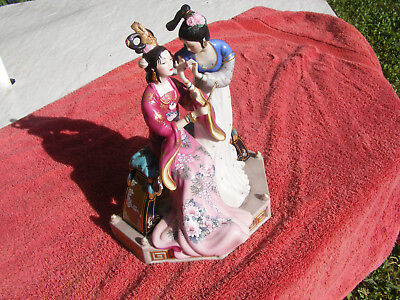 """The Franklin Mint """"sisters Of Spring"""" By Caroline Young Porcelain Figurine Mint"""