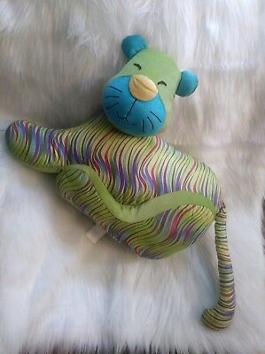 Pier one imports green cat pillow cushion tacky colorful with tail