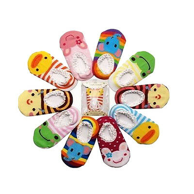 Baby Childrens Socks Cotton Colorful Animals Pattern Non-slip Socks