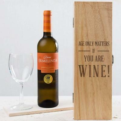 Personalised Funny Birthday Gift Wine Box Women Her Mum 30th 40th 50th 60th Bday
