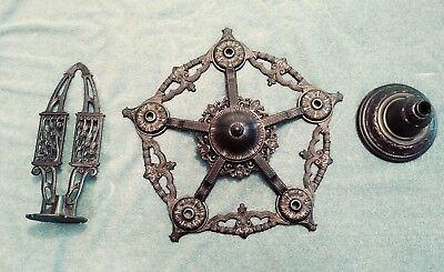 Vintage Art Deco Cast Iron Chandelier Frame Parts Restore