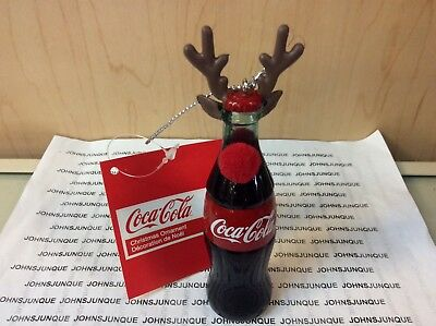 Coca-Cola Bottle With Antlers Ornament Kurt Adler New Plastic Bottle With Tag