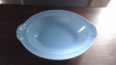 "LuRay Taylor Smith & Taylor Blue10 1/4"" Oval Vegetable Serving Dish"