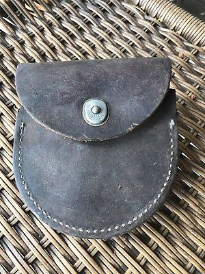 Vintage Leather Pouch USA Many Uses Well Made Early