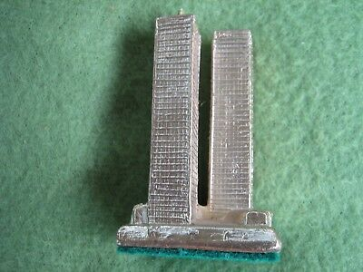 Twin Towers Souvenir Pre-9/11Rare Very Early 70S Paper Weight Felt Bottom.