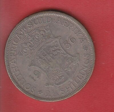 South Africa  2 Half Shilling 1936 Silver