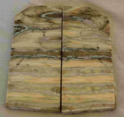 Siberian Mammoth Tooth Scales Stabilized 68-78 mm x 32 mm x 4.3 mm #MT21