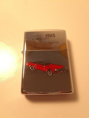 Zippo Ford 1965 Mustang red convertable vintage lighter.