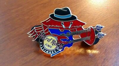 RARE Hard Rock Cafe BALTIMORE RED CRAB HAT DOUBLE NECK GUITAR PIN #2 LIMITED BAR